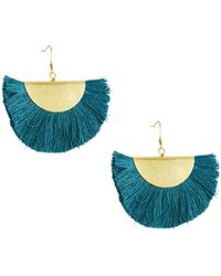 Panacea - Fan-shaped Fringe Earrings - Lyst