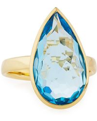 Ippolita - Rock Candy® 18k Swiss Topaz Teardrop Ring - Lyst