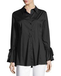 Neiman Marcus - Tie-sleeve Button-down Tunic - Lyst