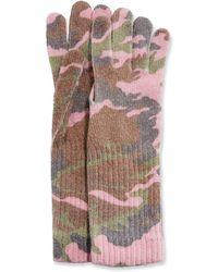 Neiman Marcus - Italian Camouflage Wool Gloves - Lyst