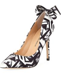Neiman Marcus - Verity Printed Bow Pumps - Lyst