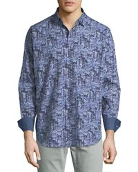 Bugatchi - Men's Classic-fit City Blues Sport Shirt - Lyst