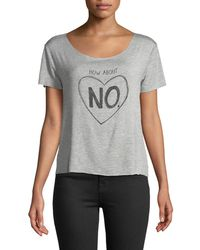 "Chaser - Dreamer ""how About No"" Scoop-neck Graphic Tee - Lyst"