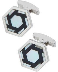 Bugatchi   Mother-of-pearl & Enamel Hexagon Cuff Links   Lyst