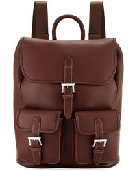 Robert Graham - Johnny Pebbled Faux-leather Backpack - Lyst