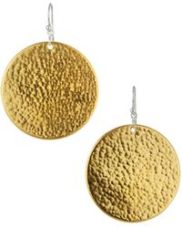 Gurhan - Flake Large Hammered Disc Drop Earrings - Lyst