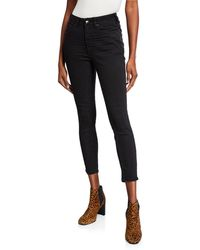 d481774e434 One Teaspoon Genuine Leather Lonely Boy Cropped Jean in Black - Lyst