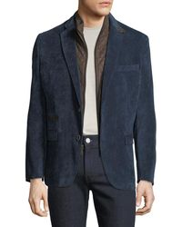 English Laundry - Men's Huston Blazer With Faux Suede Bib - Lyst