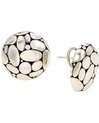 John Hardy - Medium Kali Button Earrings - Lyst