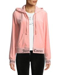 Juicy Couture - Robertson Zip-front Hooded Velour Jacket - Lyst