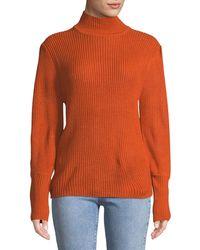 Haute Rogue - Waffle-knit Turtleneck Sweater - Lyst