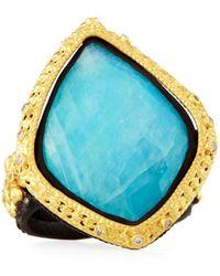Armenta - Old World 18k Turquoise & Moonstone Kite Cocktail Ring - Lyst