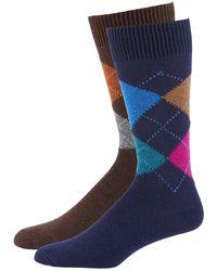 Punto - Men's Argyle Knit Socks - Lyst
