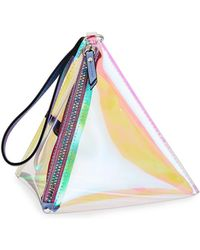 Neiman Marcus - Iridescent Pyramid Wristlet - Lyst