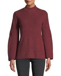 Love Scarlett - High-neck Bell-sleeve Sweater - Lyst