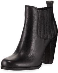 Splendid - Rachel Gored Leather Bootie - Lyst