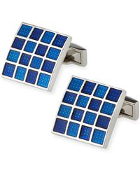 Bugatchi | Colored Glass Grid Cuff Links | Lyst