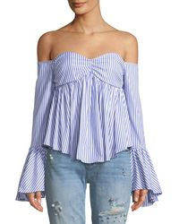 Caroline Constas - Max Sweetheart Off-the-shoulder Blouse - Lyst
