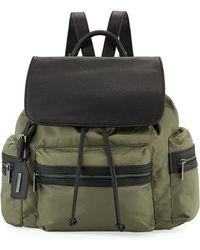 1f9d0195cec9ef Last Call · Neiman Marcus - Elizabeth Contrast-trim Nylon Backpack - Lyst