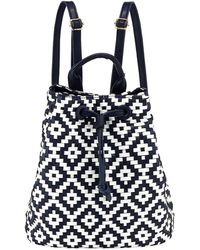 Neiman Marcus - Diamond-weave Drawstring Backpack - Lyst