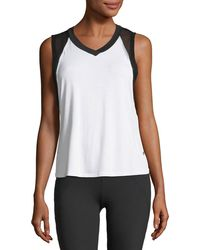Body Language Sportswear - Pax V-neck Mesh Performance Tank Top - Lyst