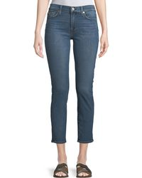 7 For All Mankind - Roxanne Straight-leg Ankle Jeans - Lyst
