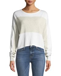 Minnie Rose - Surf Colorblocked Crop Sweater - Lyst