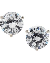 Fantasia by Deserio - Martini-cut Rhinestone Stud Earrings - Lyst