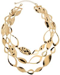 Lydell NYC - Disk & Link 3-strand Necklace - Lyst