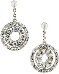 Roberto Coin - 18k White Gold Double-sided Diamond & Sapphire Earrings - Lyst