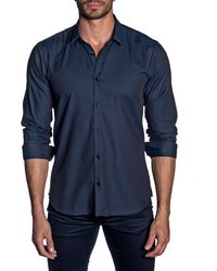 Jared Lang - Men's Modern-fit Micro-weave Long-sleeve Shirt - Lyst