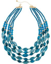 Lydell NYC - Multi-strand Agate Beaded Necklace - Lyst