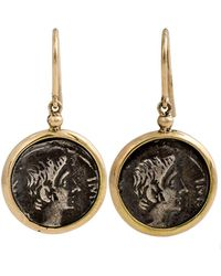 1884 Collection - Appia 18k Gold & Silver Ottaviano Coin Drop Earrings - Lyst