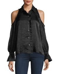 Waverly Grey - Tessa Cold-shoulder Top - Lyst