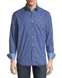 Bugatchi - Classic-fit Scribble Sport Shirt - Lyst