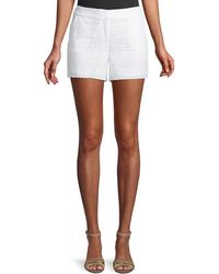 Laundry by Shelli Segal - Eyelet Lace Tie-side Shorts - Lyst