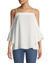 Laundry by Shelli Segal - Cold-shoulder Flowy Blouse - Lyst