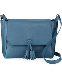 Longchamp - Penelope Leather Crossbody Bag With Tassels - Lyst