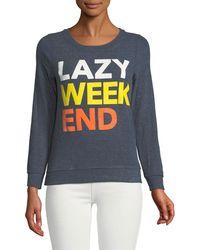 Chaser - Lazy Weekend Soft Convo Sweatshirt - Lyst