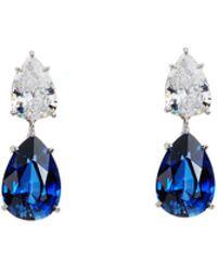 Fantasia by Deserio - Double Pear-cut Cz Crystal Drop Earrings - Lyst