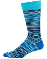Jared Lang - Thin-striped Cotton-blend Socks - Lyst