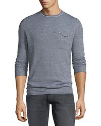 Antony Morato - Men's Striped Long-sleeve Pocket T-shirt - Lyst