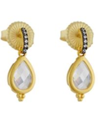 Freida Rothman | Pave Crystal Teardrop Dangle Earrings | Lyst