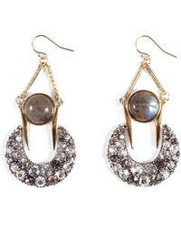 Lulu Frost - Laumiere Drop Earrings W/ Crystals - Lyst