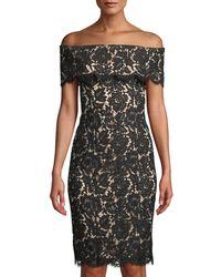 Eliza J - Off-the-shoulder Lace Illusion Dress - Lyst