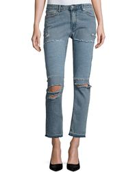 Cheap Monday   Common Distressed Skinny Jeans   Lyst