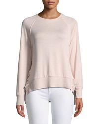 Dex - Ruffle-hem Raglan-sleeve Sweater - Lyst