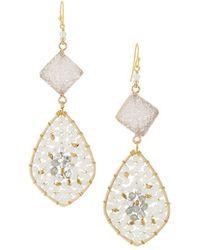 Nakamol - Druzy & Crystal Teardrop Earrings - Lyst
