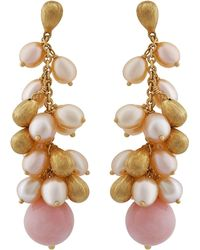 Marco Bicego | 18k Acapulco Pink Opal Pearly Drop Earrings | Lyst