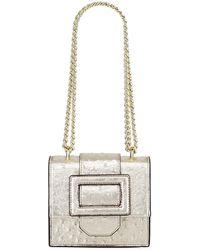0d95445e3 Christian Siriano Diane Micro Mini Ostrich Embossed Shoulder Bag in ...